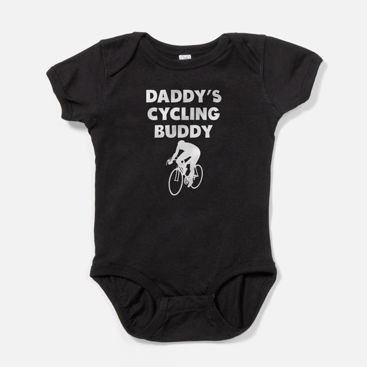 Daddys Cycling Buddy Baby Bodysuit