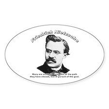 Friedrich Nietzsche 04 Oval Decal