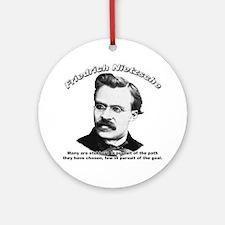 Friedrich Nietzsche 04 Ornament (Round)
