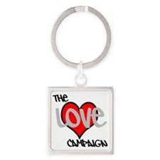 The Love Campaign Square Keychain