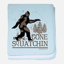 Funny Squatchin baby blanket