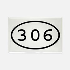 306 Oval Rectangle Magnet