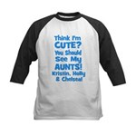 Think I'm Cute? AUNTS custom Kids Baseball Jersey