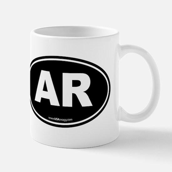 Arkansas AR Euro Oval Mug