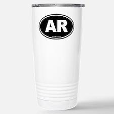 Arkansas AR Euro Oval Stainless Steel Travel Mug