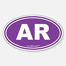 Arkansas AR Euro Oval Decal