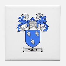 TOBIN Coat of Arms Tile Coaster
