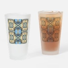 Blue And Gold Pattern Drinking Glass