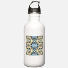 Blue And Gold Pattern Water Bottle