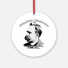 Friedrich Nietzsche 05 Ornament (Round)