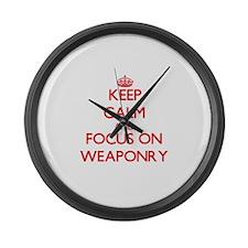 Cute Weaponry Large Wall Clock