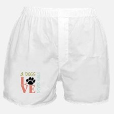 A Dogs Love Boxer Shorts