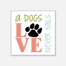 A Dogs Love Sticker