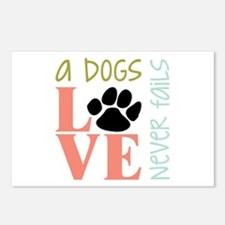 A Dogs Love Postcards (Package of 8)