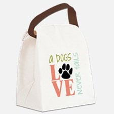 A Dogs Love Canvas Lunch Bag
