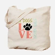 A Dogs Love Tote Bag