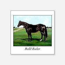 "Thoroughbred ""Bold Ruler"" Square Sticker 3"" x 3"""