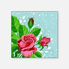 "Roses- Square Sticker 3"" x 3"""