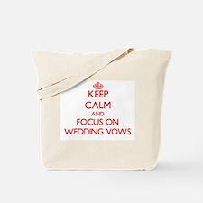 Cute Keep calm wedding Tote Bag