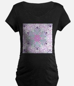 vintage bohemian abstract purple snowflakes patter