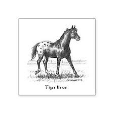 """Tiger Horse Square Sticker 3"""" x 3"""""""
