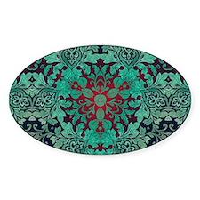 vintage bohemian grunge green abstract pattern Sti