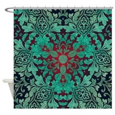 Cool Damask pattern Shower Curtain