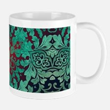 vintage bohemian grunge green abstract pattern Mug