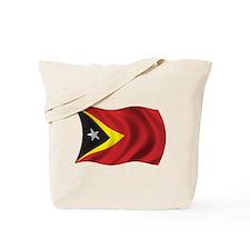 Wavy East Timor Flag Tote Bag