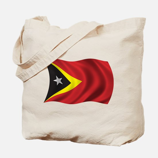 Wavy East Timor Flag Tote Bag