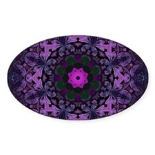 vintage bohemian purple abstract pattern Decal