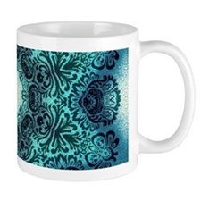vintage turquoise bohemian abstract star Mugs