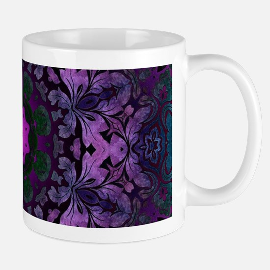 vintage bohemian purple abstract pattern Mugs