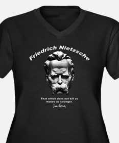 Friedrich Nietzsche 06 Women's Plus Size V-Neck Da
