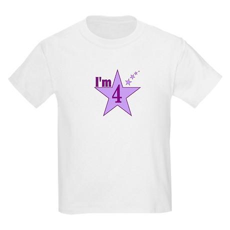 I'm 4 Girls Birthday Kids Light T-Shirt