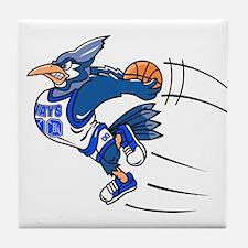 blue jay basketball Tile Coaster