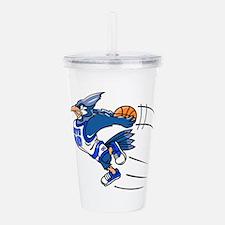 blue jay basketball Acrylic Double-wall Tumbler