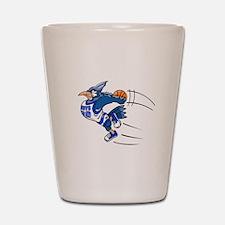 blue jay basketball Shot Glass