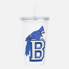 B is for blue jay Acrylic Double-wall Tumbler