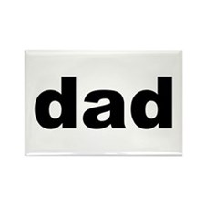 Father's Day Dad Title Rectangle Magnet