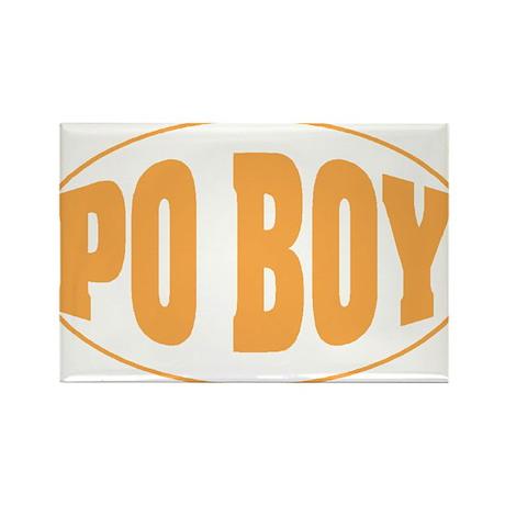 Po Boy Rectangle Magnet