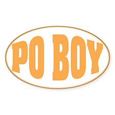 Po Boy Oval Decal