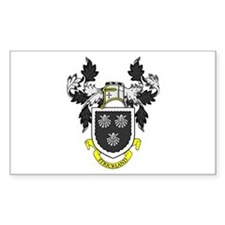 STRICKLAND Coat of Arms Rectangle Decal