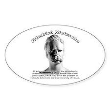 Friedrich Nietzsche 07 Oval Decal