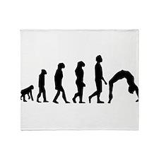 Gymnastics Evolution Throw Blanket