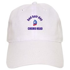 CHEMO HEAD, BAD HAIR DAY Baseball Cap