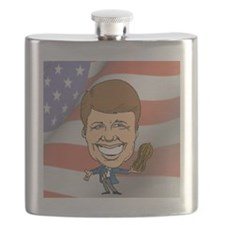 President Jimmy Carter with American Flag Flask