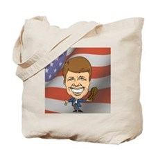 President Jimmy Carter with American Flag Tote Bag