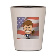 President Jimmy Carter with American Fl Shot Glass