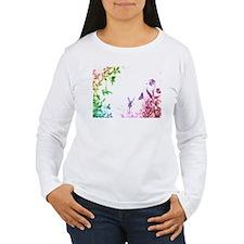 Whimsical Rainbow Fairy Womens Long Sleeve T-Shirt